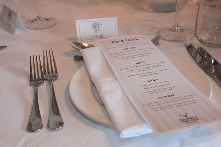 immaculate table settings #WalterPeak #NZweddings #Queenstown #RealJourneys #TSSEarnslaw #LakeWakatipu #NewZealand #weddings