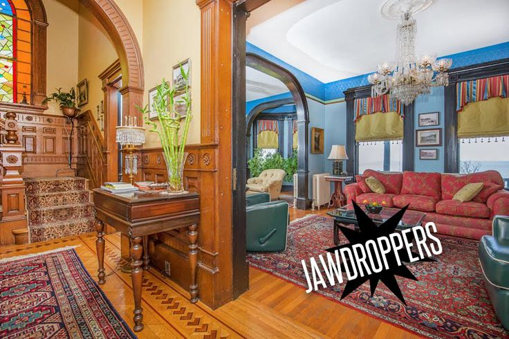 by Elizabeth Finkelstein  Now THAT's a foyer I could get used to. Holy smokes.. this Victorian home in Swampscott, Massachusetts is not only an incredible piece of architectural history…