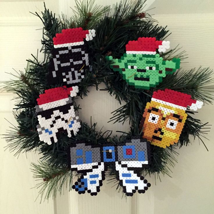 Star Wars Christmas wreath hama beads by Zo Zo Tings