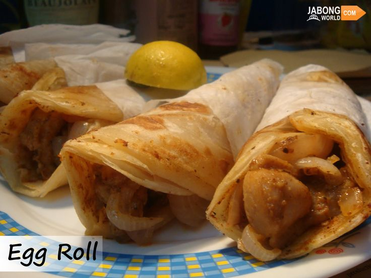 #EggRolls are one of the most popular of all street foods in Kolkata.  Wrapped inside a paratha fried eggs served with chutney or sour dipping sauce is commonly available in most of the roadside stalls of Kolkata.