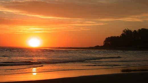 El Salvador byr på kilometervis av flotte sandstrender #sunset #beach #Central-America