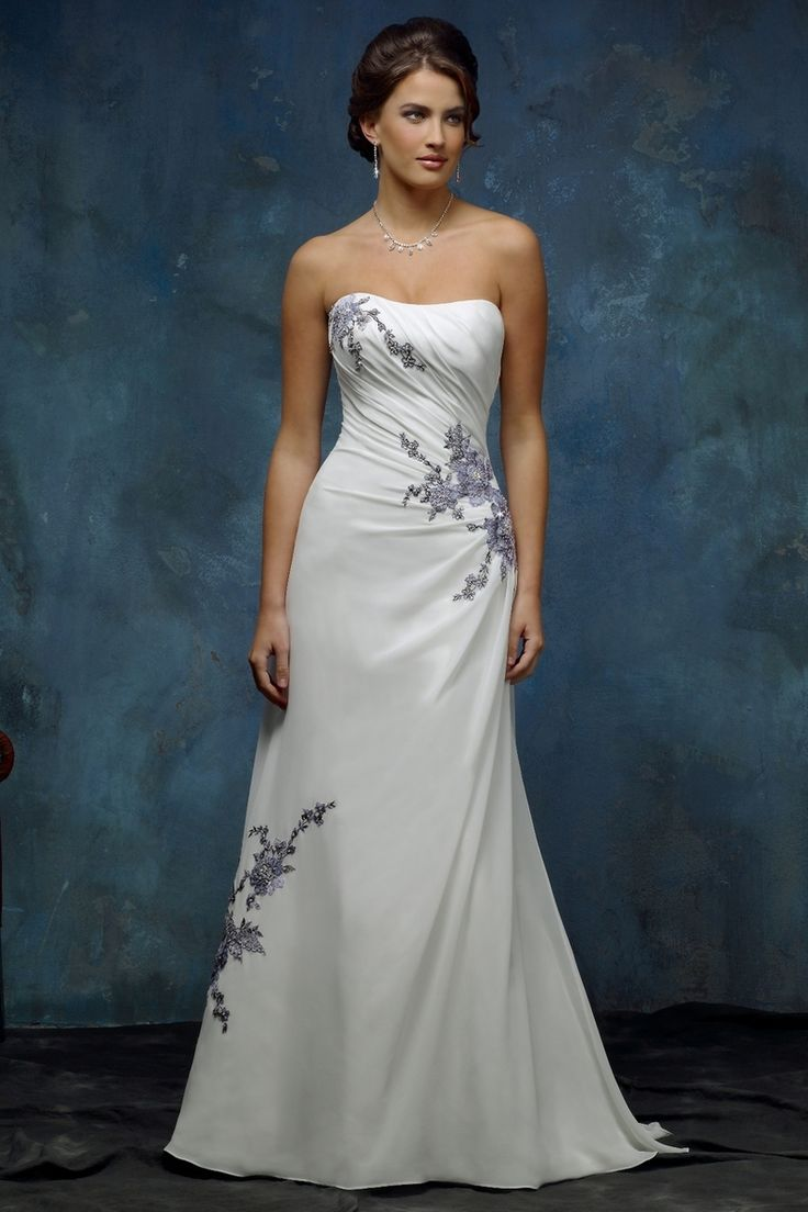 96 best images about wedding dresses on pinterest for White and silver wedding dresses