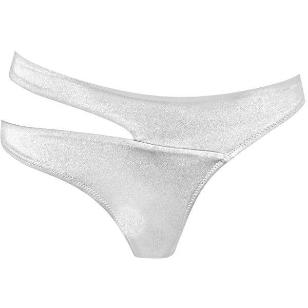 Agent Provocateur Lexxi Bikini Brief ($175) ❤ liked on Polyvore featuring swimwear, bikinis, swim, white, swim bikini bottoms, bikini bottom swimwear, wrap bikini, white bikini swimwear and swim bikini
