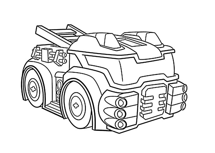 heatwave the fire bot coloring pages for kids  printable