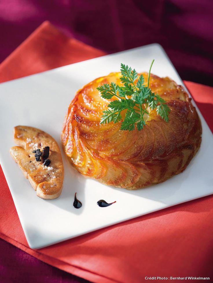 Recette de gâteau de pommes de terre et foie gras poêlé