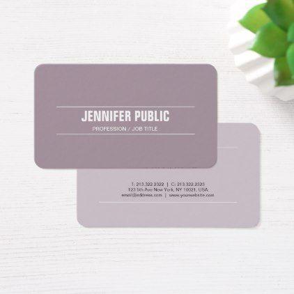 #Luxury Silk Modern Design Purple Stylish Plain Business Card - #cosmetologist #gifts #beauty