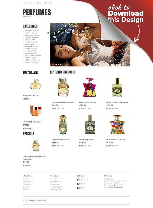 Responsive Perfumes Store PrestaShop Theme E-commerce Templates, PrestaShop Themes, Fashion & Beauty, Beauty Templates, Cosmetics Store Templates