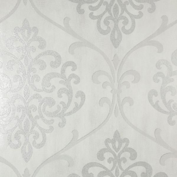 Norwall Striped Damask Vinyl Prepasted Wallpaper Covers 56 Sq Ft Tx34843 The Home Depot Damask Wallpaper Sparkle Wallpaper Embossed Wallpaper