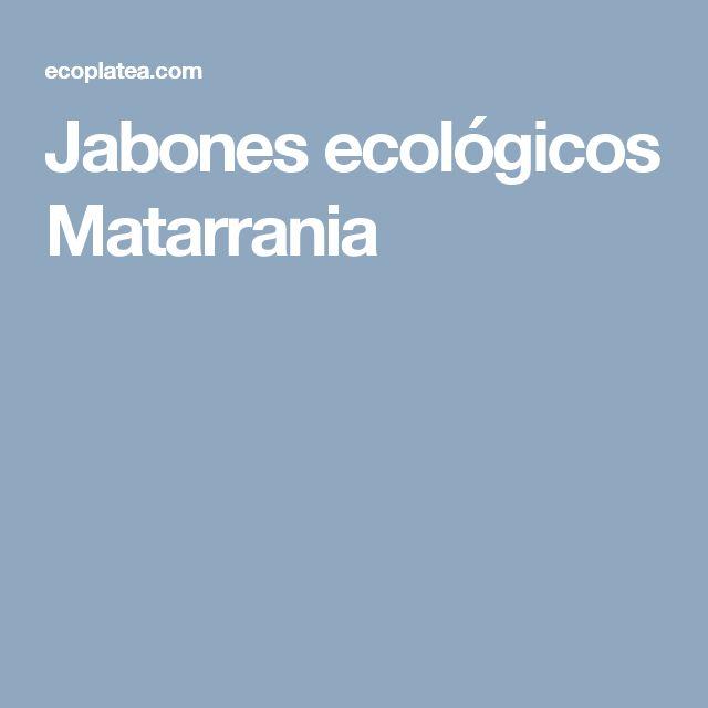 Jabones ecológicos Matarrania
