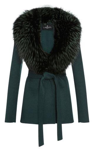 Double Face Zibeline Fox Fur Trimmed Jacket by J. MENDEL for Preorder on Moda Operandi