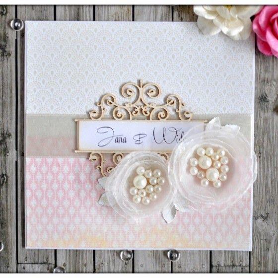 Romantic handmade wedding invitation