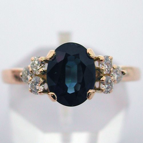 In LOVE with the simplicity of the ring, and the color of the sapphire