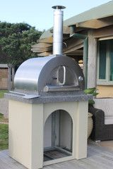 Stainless Steel Wood Fired Pizza Oven - Luxury Model