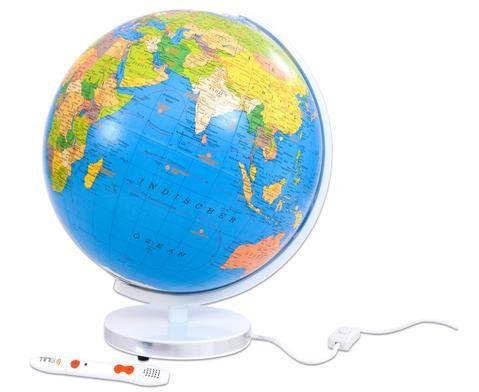 """Beleuchtbarer Globus - 34cm Durchmesser für den #TING-Stift """"WAS IST WAS"""" #Globus Abenteuer #Erde #Sachunterricht #Betzold"""