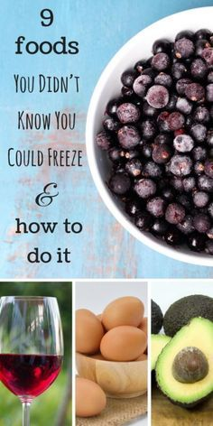9 Foods You Didn't Know You Could Freeze (And How To Do It)   Did you know you can freeze eggs? What about avocados? There is even a case for freezing wine! #freezethesefoods #sponsored