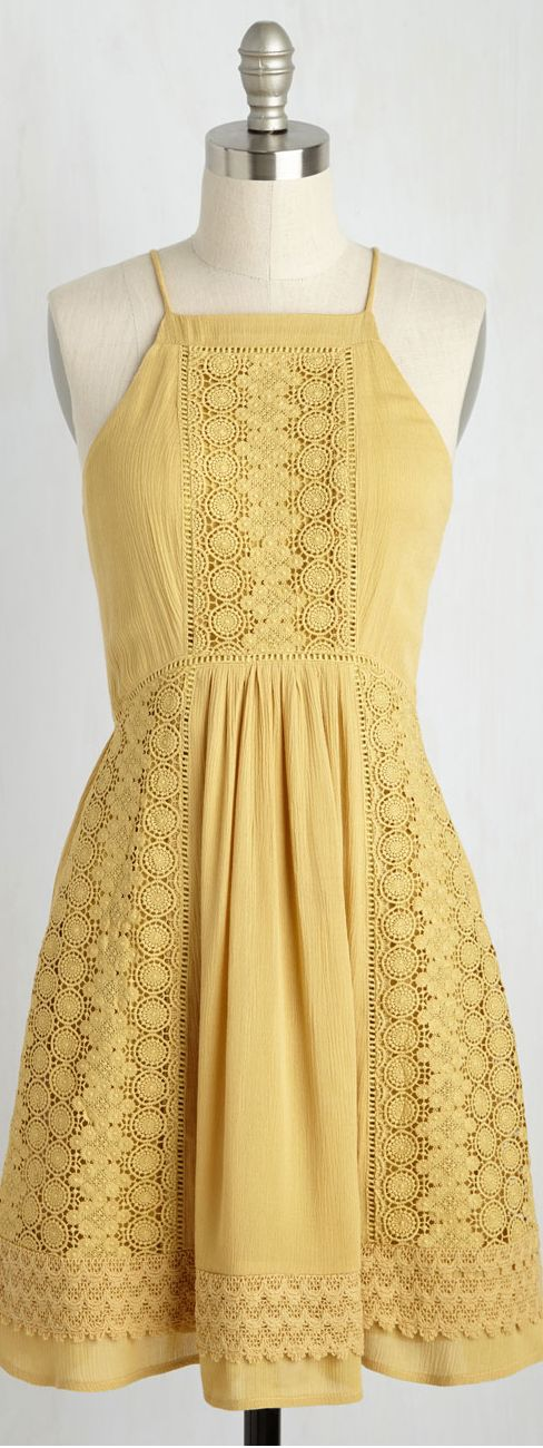 lace insert dress