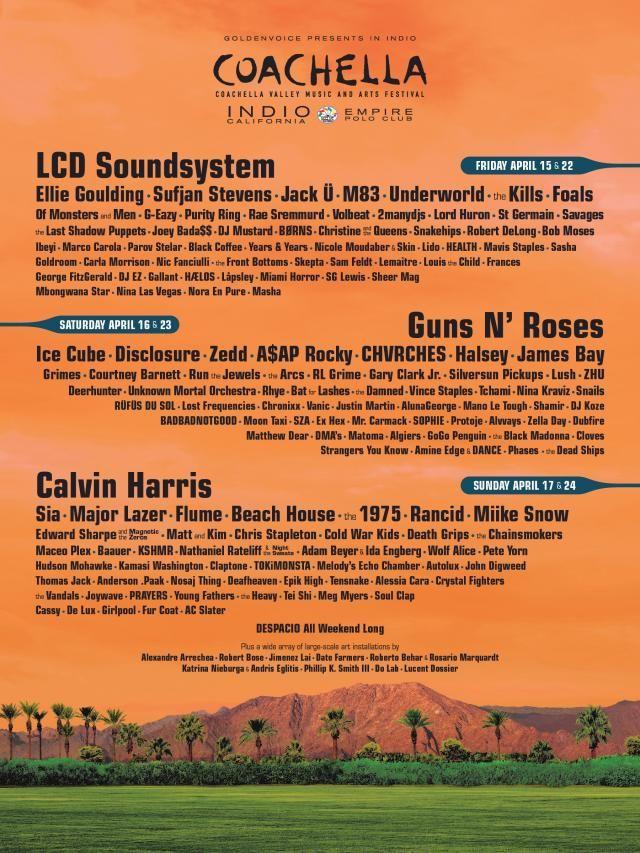 Coachella 2016 Festival Line-up