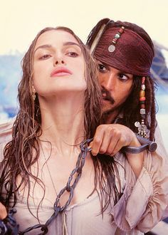 *ELIZABETH SWANN & CAPTAIN JACK SPARROW ~ Pirates of the Caribbean