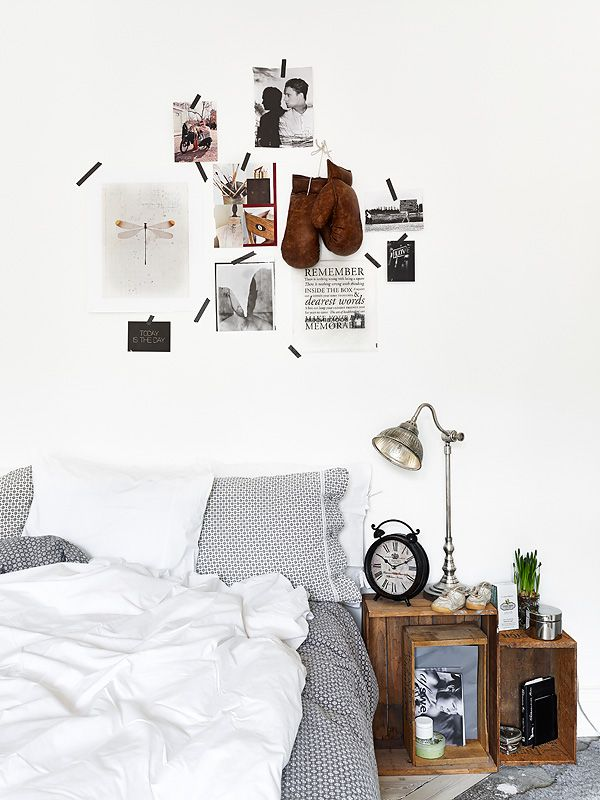 Vintage bedroom male style