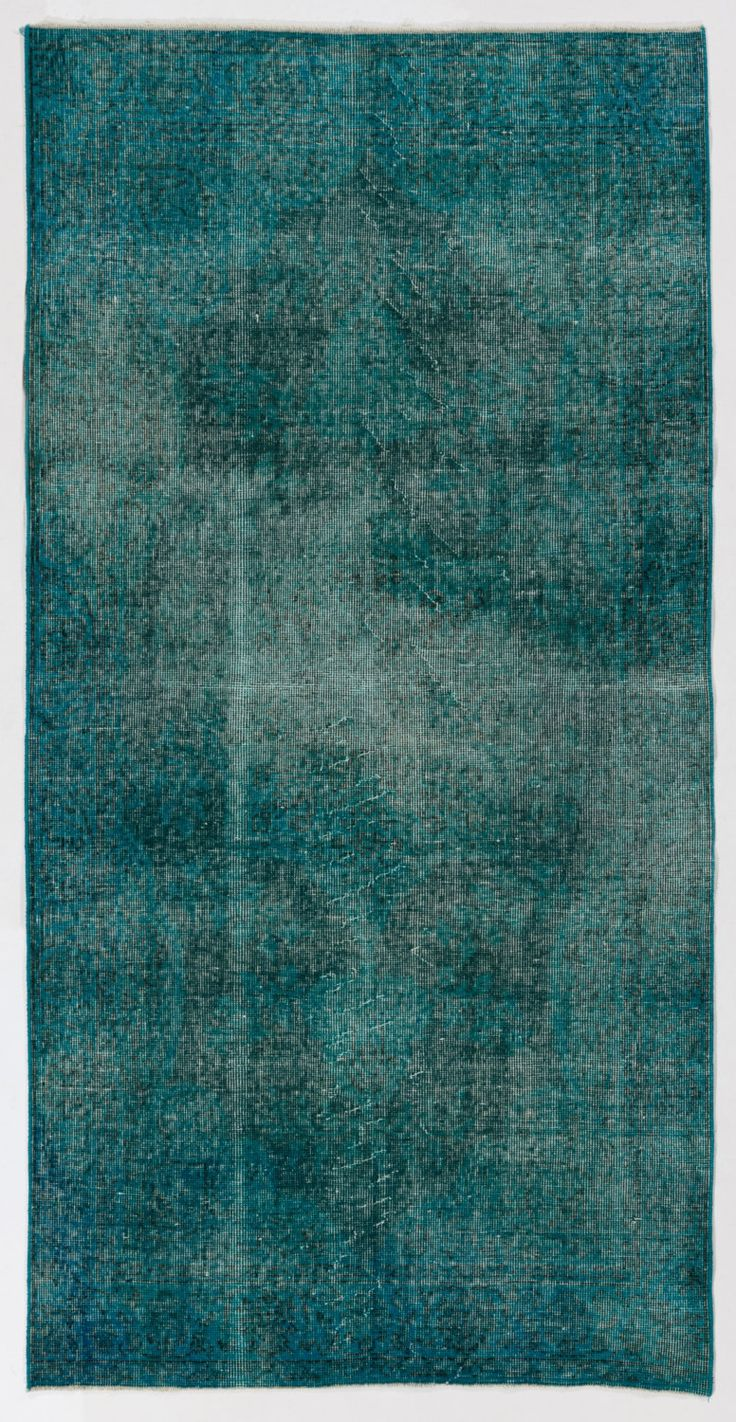 "3'5"" x 6'8"" (105 x 207 cm) Turkish Overdyed Rug, Blue by Zorlus on Etsy"