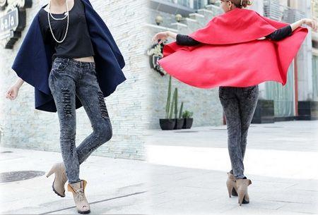 Stijlvolle poncho t.w.v. €39,95 nu maar €16,95! - https://www.vouchervandaag.nl/aanbieding-poncho-vest-najaar-herfst-kleding-mode-dames-aanbieding-korting #jas #korting #mode #aanbieding #poncho #vouchervandaag
