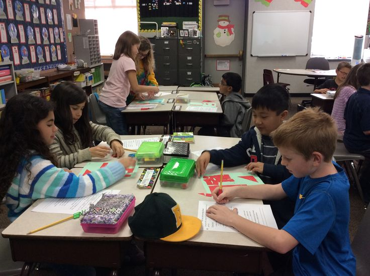 """Mrs. Gaisford's 3rd graders at Valencia Valley are creating area calculation models. Using models and discovery develops a deep sense of understanding of the math concepts of area before learning formulas. Students are learning that area is the space inside the shape and are using 1"""" sq units to determine the area of a given polygon."""