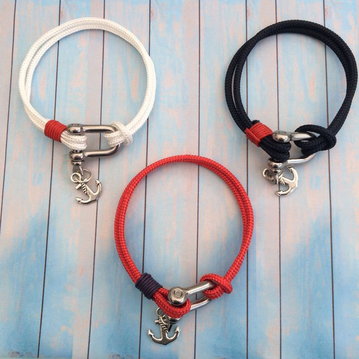 Shackle bracelets. Genuine marine grade stainless steel