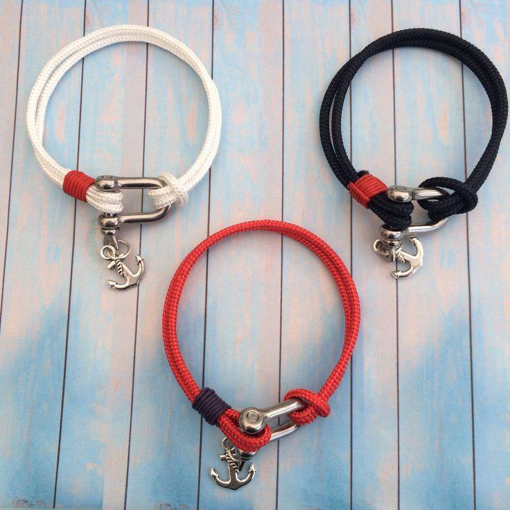 Shackle bracelets. Genuine marine grade stainless steel