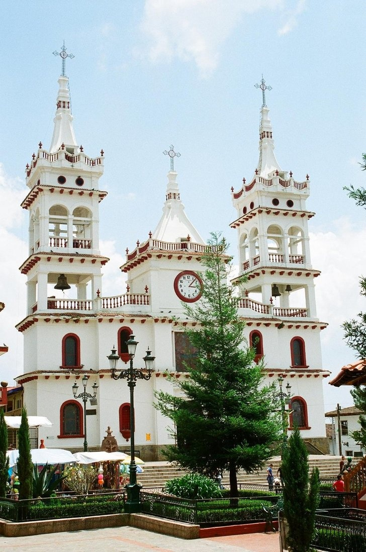 church in Mazamitla, Jalisco, Mexico #Mexico #Mexican #church - to purchase folk art churches of clay, visit www.mainlymexican...