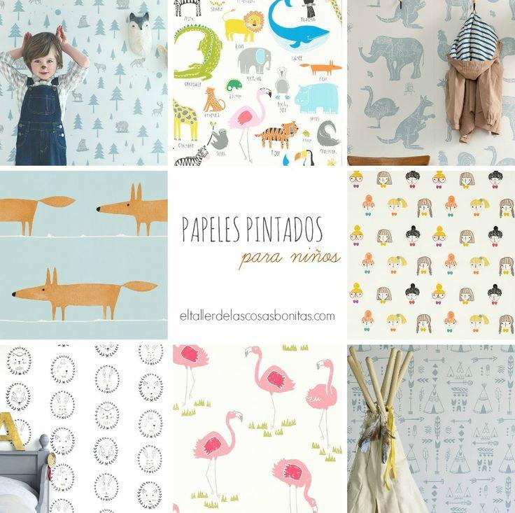 Papeles pintados para habitaciones de niños | el taller de las cosas bonitas