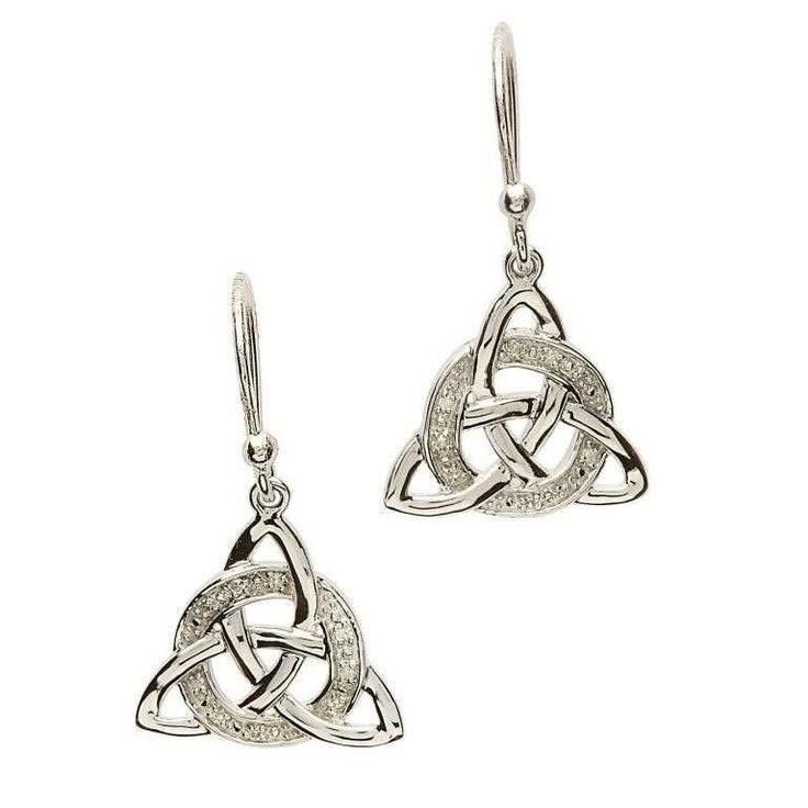 ShanOre Celtic Trinity Knot Diamond Set Earrings