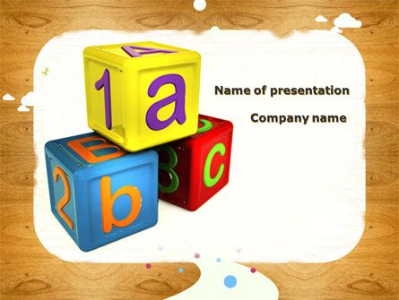 12 best preschool and school education presentation themes images cubes for basic education presentation template toneelgroepblik Choice Image
