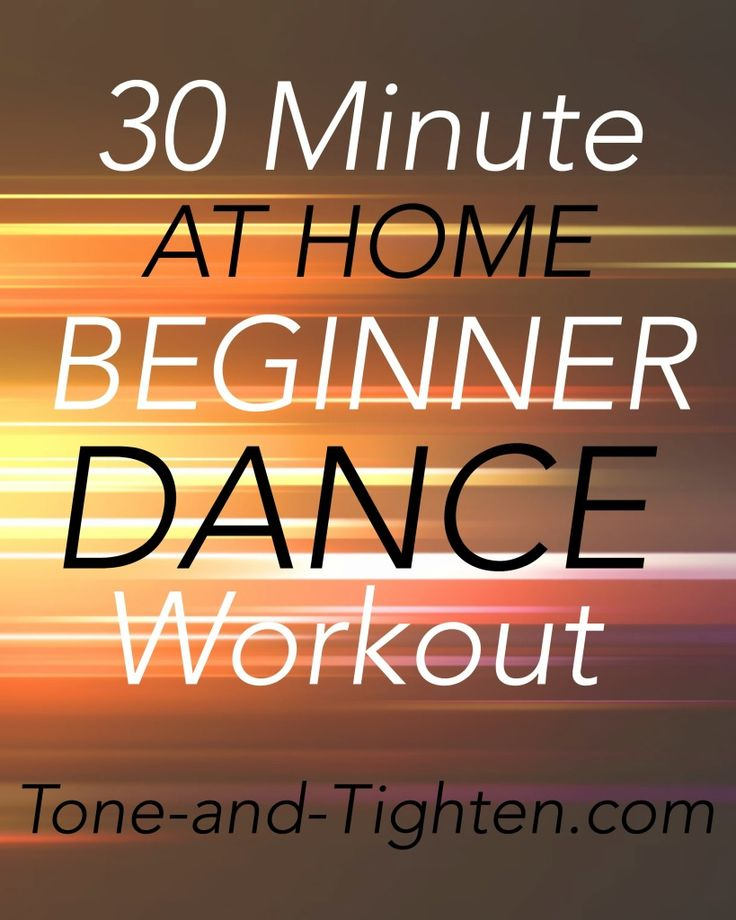 30 Minute At Home Beginner Dance Workout on Tone-and-Tighten.com