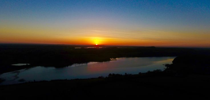 Sunset over Lough Bane (Bán) in counties Meath/Westmeath