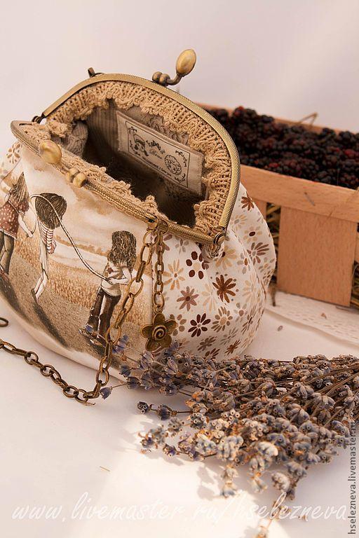 """Купить Сумочка с фермуаром """"Скакалка"""" - маленькая сумочка, клатч, косметичка, фермуар, Сумка с фермуаром"""