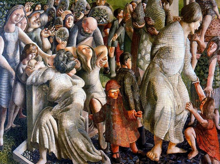 Stanley Spencer - The Resurrection: Reunion of Families, 1945