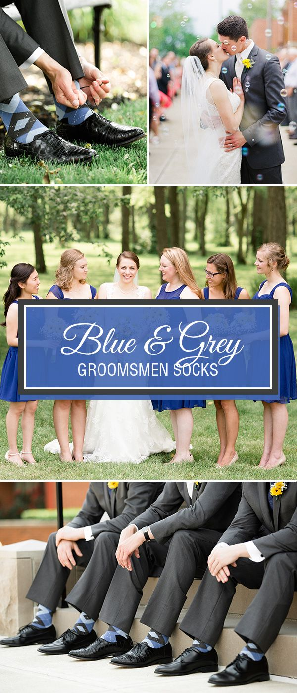 Blue is a versatile, vibrant color for weddings. Whether you are searching for cobalt or horizon blue, these blue socks are a nice detail for your groomsmen to incorporate your wedding palette and coordinate the entire wedding party. Shop these blue socks and more.