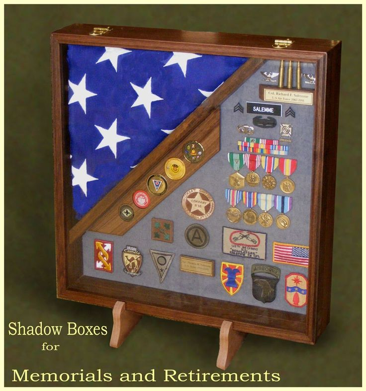 FOR PETE & I for our military awards/decs..Custom Shadow Boxes and Display Cases for Military Retirements