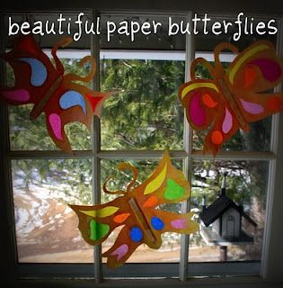 #6 School craft - I remember making these in Kindergarten!  Butterfly craft :)  #momselect  #backtoschool