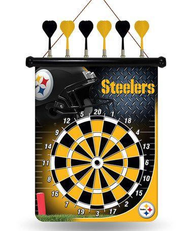 pittsburgh steelers magnetic dart board zulilyfinds - Pittsburgh Steelers Merchandise