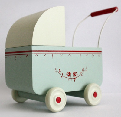 vintage inspired pram baby carriage toy