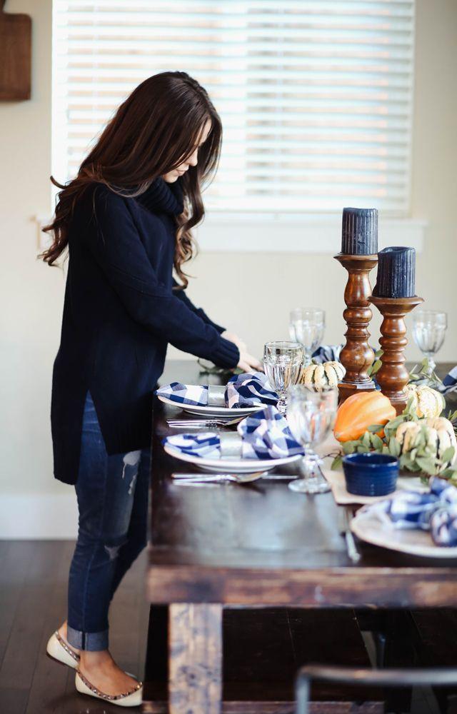 farmhouse inspired thanksgiving table. | Corilynn | Bloglovin'