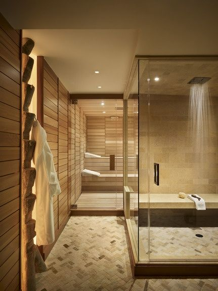 Interior design weekend dreaming 22 amazing relaxing for Sauna bathroom ideas
