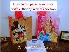 Disney World Surprise Trip, Surprise your kids with a trip to Disney World, Disney World Vacation Crafts
