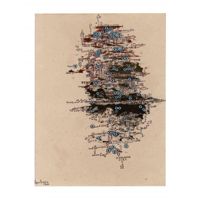 Carol Rama, L'Isola degli occhi, 1966, Collection privée    - MaM - Paris.fr