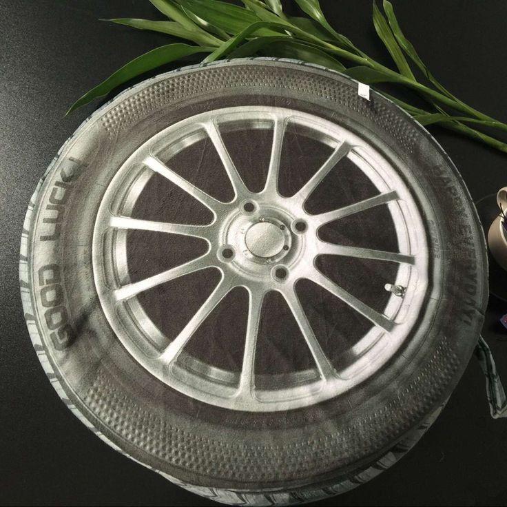 3D Pillow Tire Wheels Creative Plush Toy Pillow Cushions wheel creative Tire pillow Tyre pillow