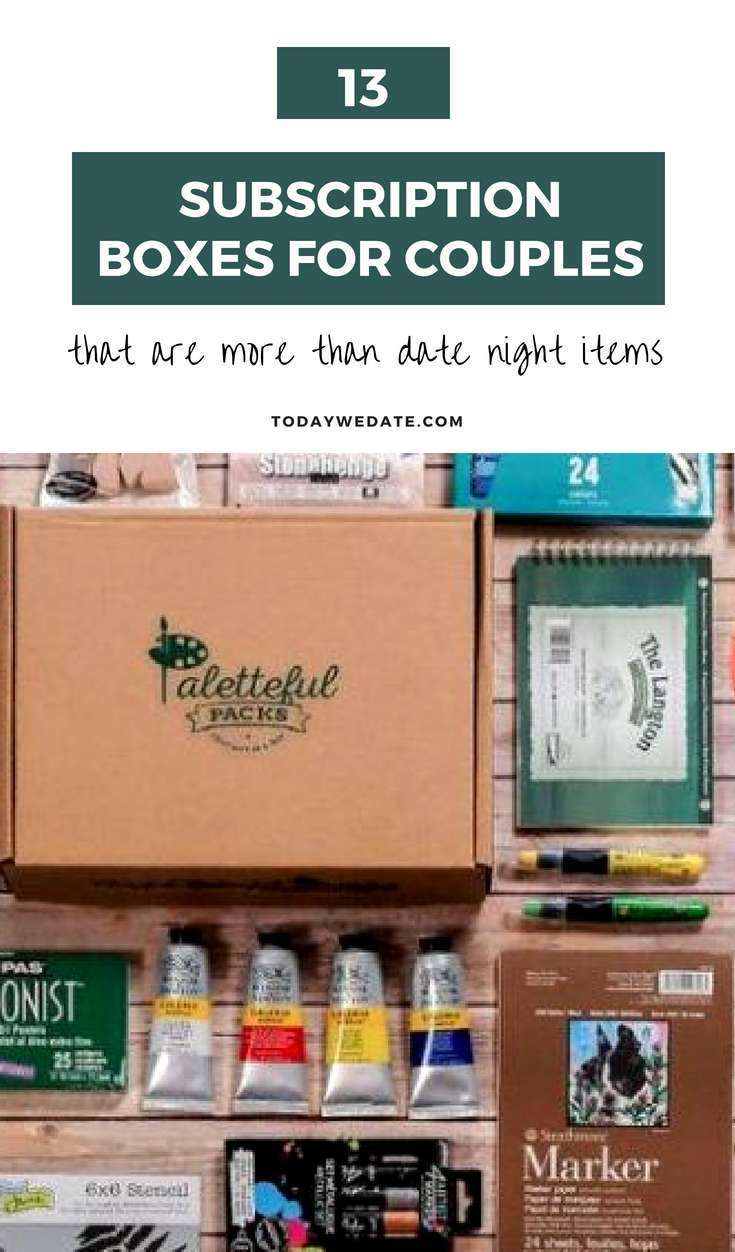 13 Subscription Boxes For Couples That Are More Than Date Night Items And Your Bae Will Love Art Box Subscription Subscription Boxes Subscription Box Couples