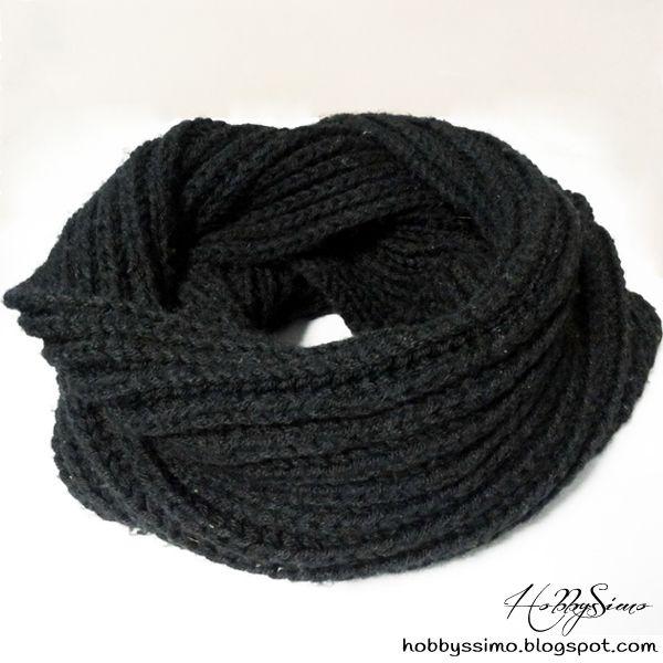 HobbysSimo: Sciarpa scaldacollo con maglia a coste (Free Pattern)