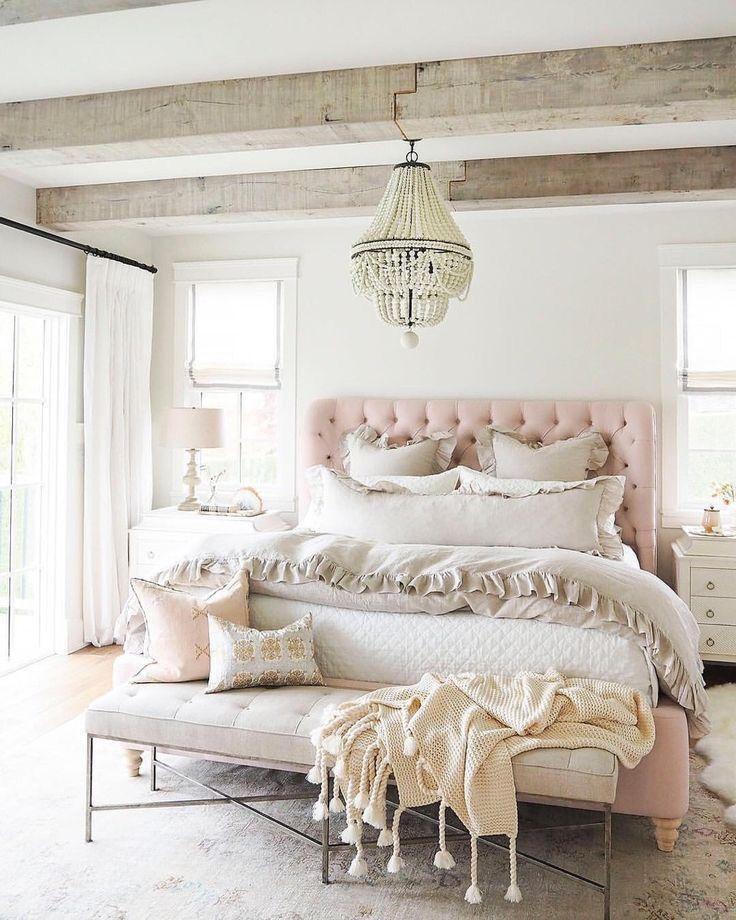 Pink Tufted Headboard 21 Gorgeous Feminine Home Decor Ideas Home Decor Bedroom Feminine Bedroom Chic Bedroom