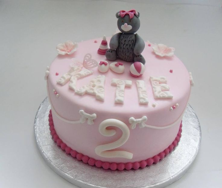 Teddy Bear Cake For A Girls 2nd Birthday Sweet Tooth